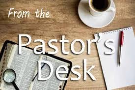 Note from Senior Pastor
